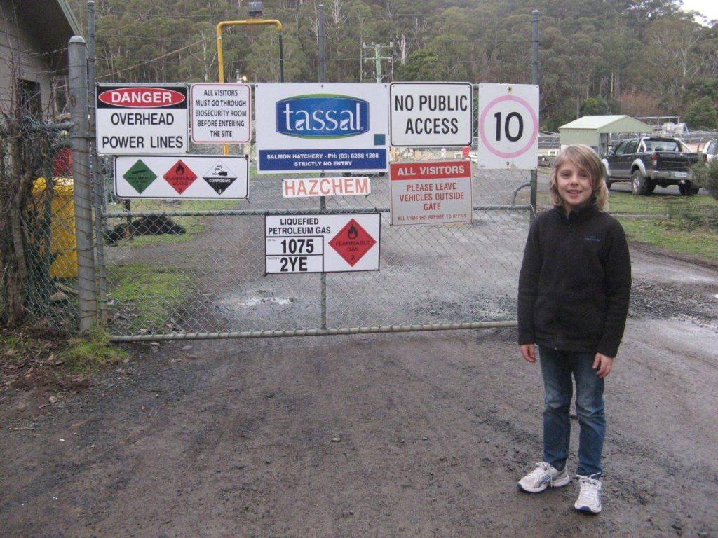 Theo at Tassal at Mt Field Tassie July 2016